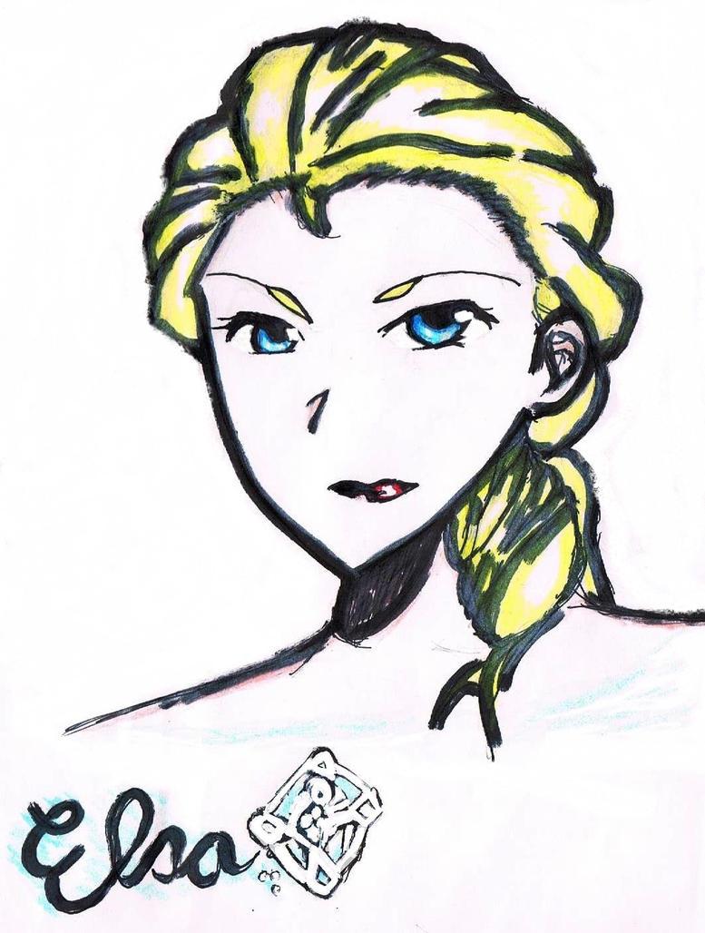Frozen - Elsa Doodle by crazygoat20