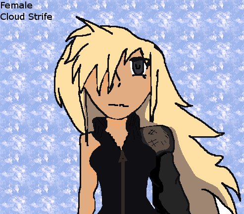 Female Cloud Strife By Roxasrealm On Deviantart