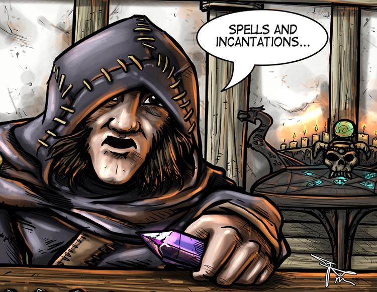 Farengar Secret-Fire Court Wizard of Whiterun by MirrorwoodComics
