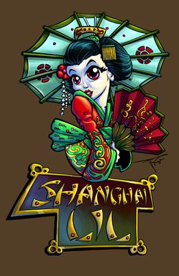 Shanghai Lil Tshirt Design by MirrorwoodComics