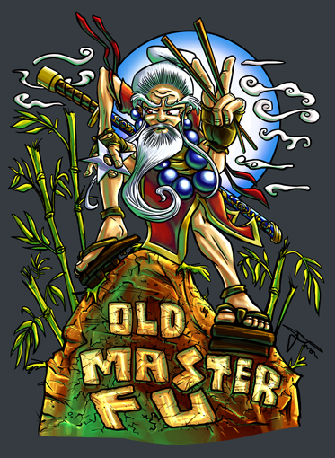 Old Master Fu Tshirt Design by MirrorwoodComics