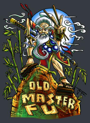 Old Master Fu Tshirt Design by MirrorwoodComics