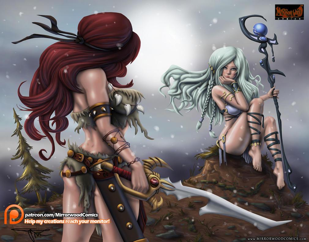 Icissia and Xenobia by MirrorwoodComics