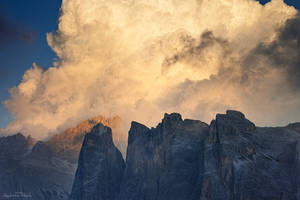 Dolomite Sunset Clouds by AndreasResch