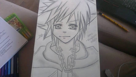 Sora - Kingdom Hearts Redrawn Sketch