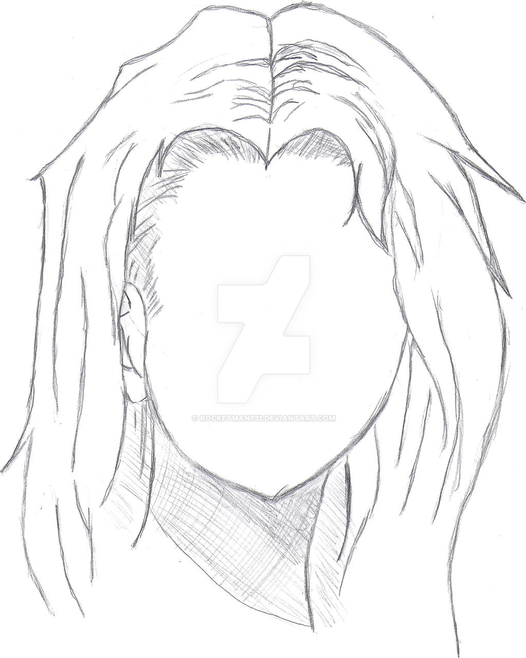 how to draw long hair by rocketman732 on deviantart