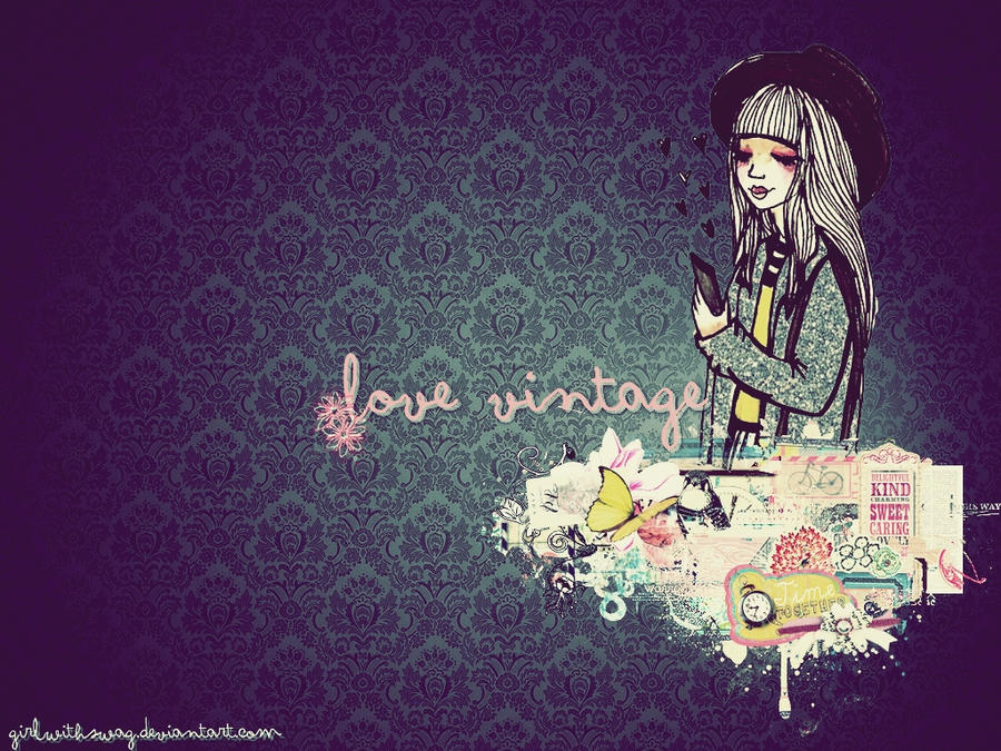 Wallpaper I Love You Vintage : Love Vintage - Wallpaper by GirlWithSWAG on DeviantArt