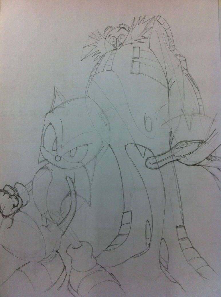 Sonic and Dr Robotnik by Virtual-XIII