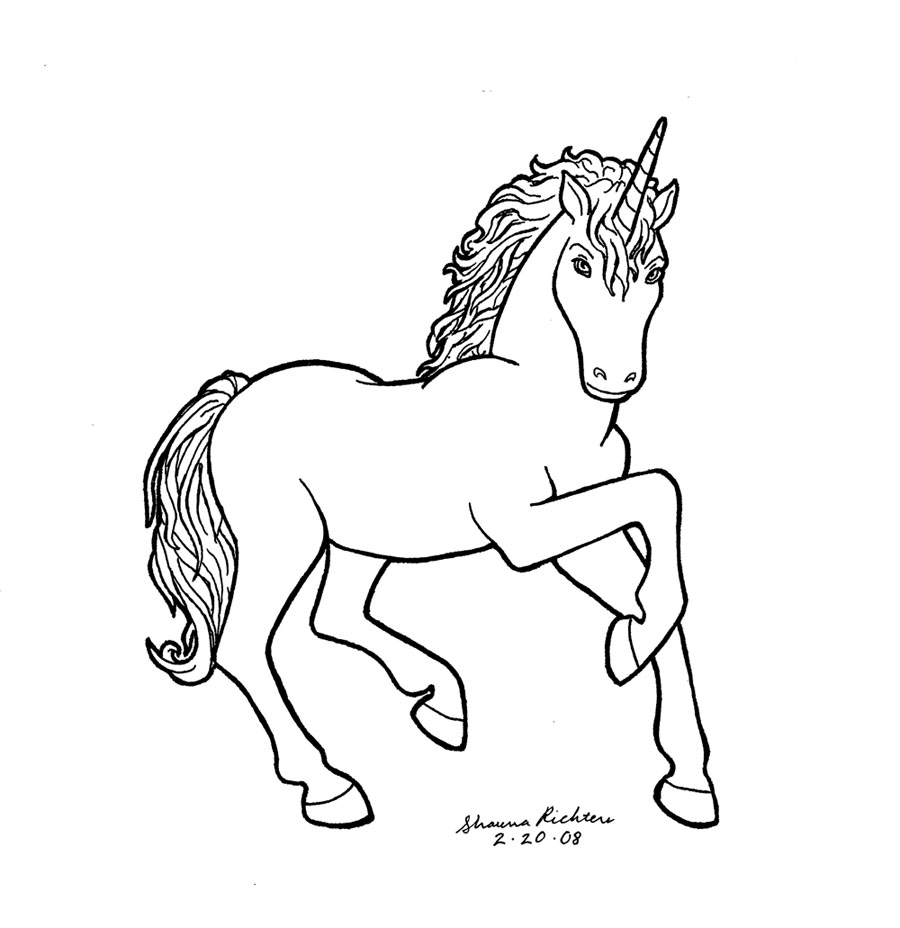 Line Art Unicorn : Unicorn by gingersketches on deviantart