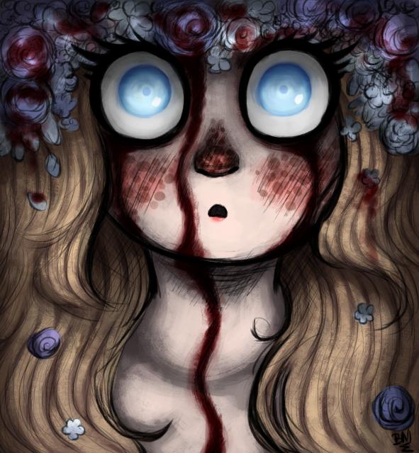 Blue eyes by Maimed-Bunny