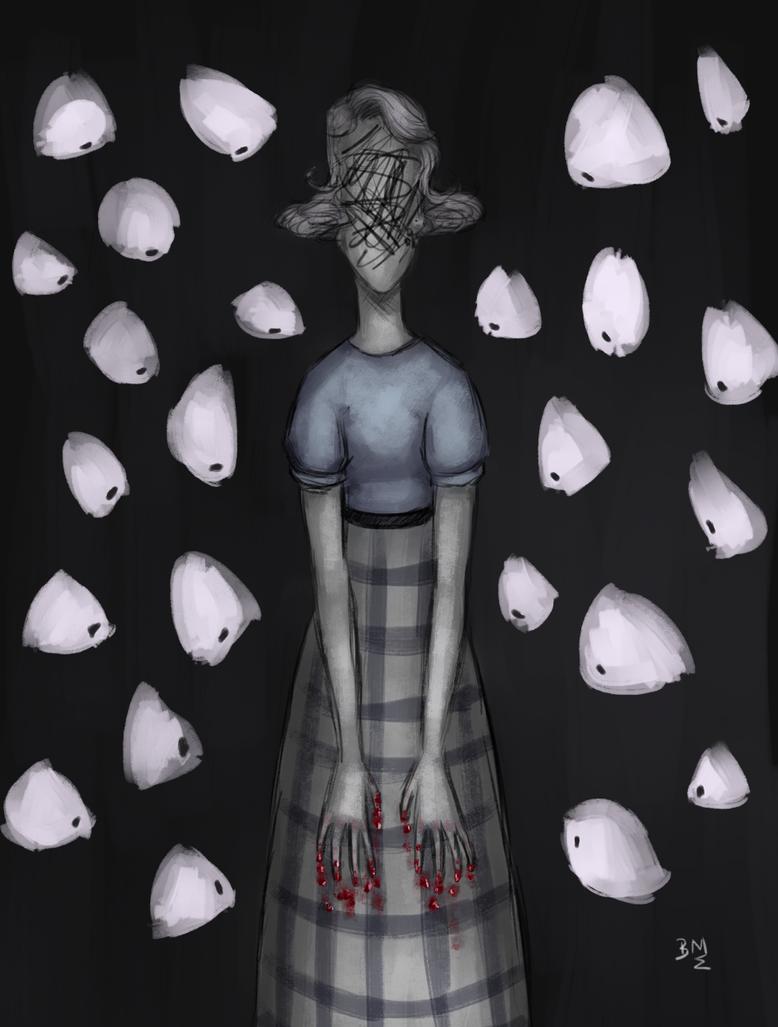 Day 16/17: Finger Nails+Paranoia by Maimed-Bunny