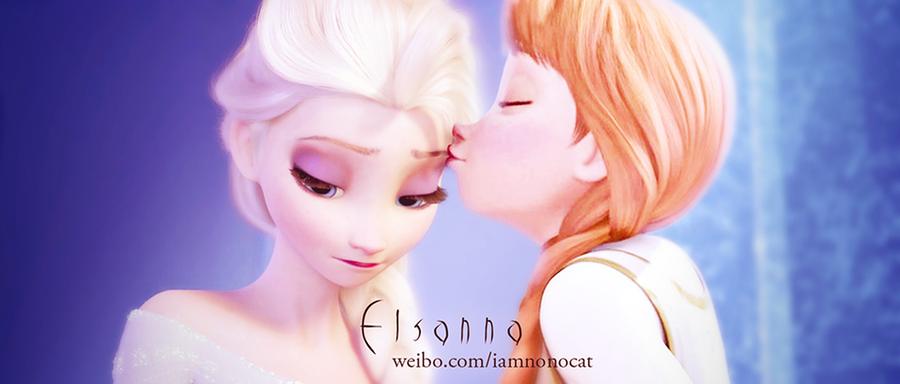 Elsanna's kiss by meowxiaoshou on DeviantArt