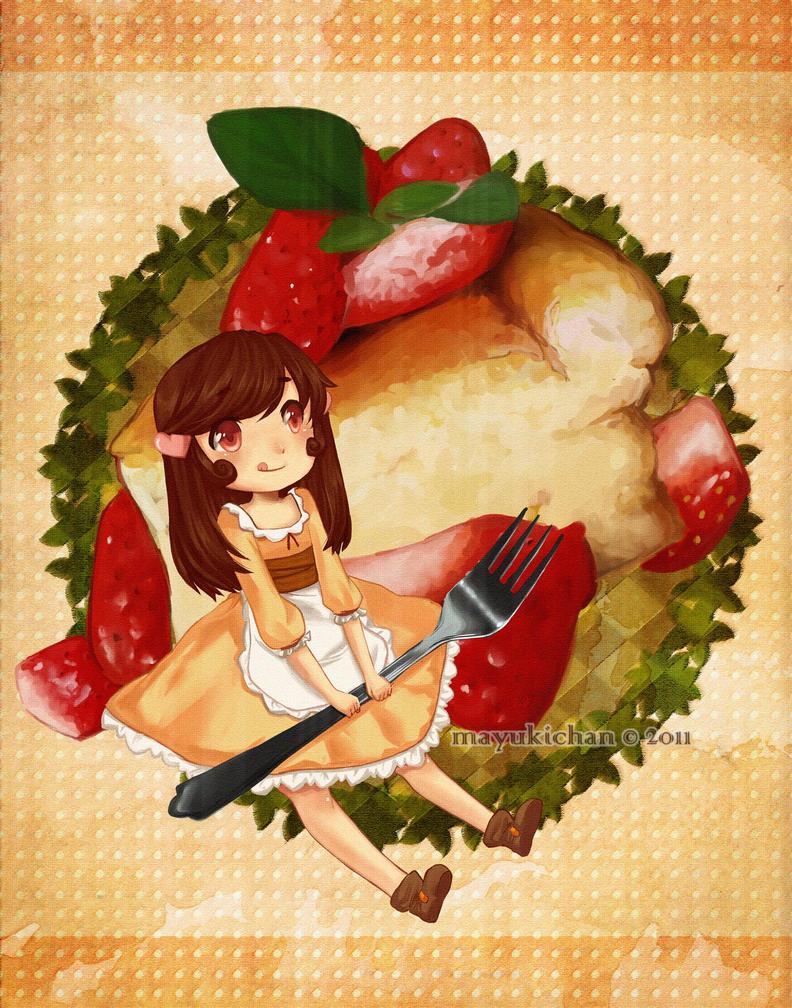 Strawberry Cheesecake by mayukichan