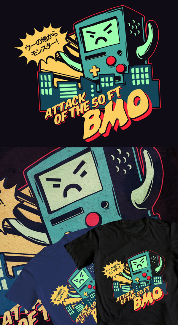 At shirt attack of the 50 ft bmo by mayukichan on deviantart for Attack of the 50 foot woman t shirt