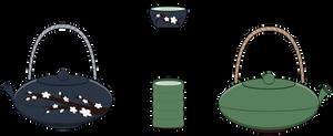 :~ Kisekae[FOOD] Traditional Tea Set ~: