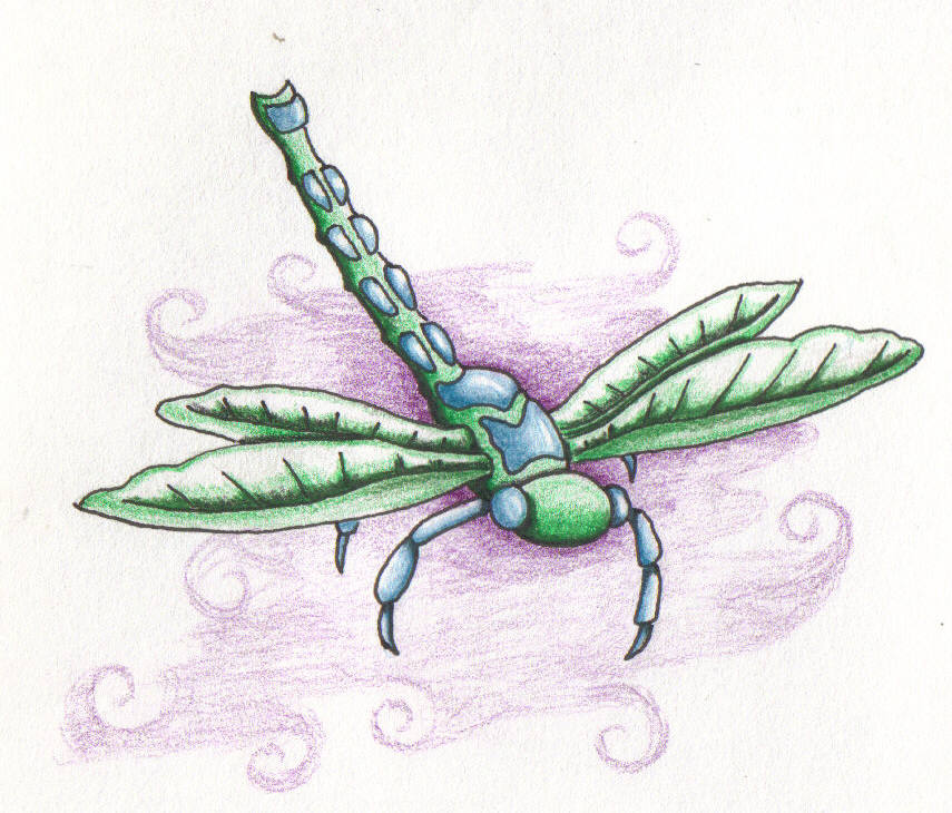 Green Dragonfly - dragonfly tattoo