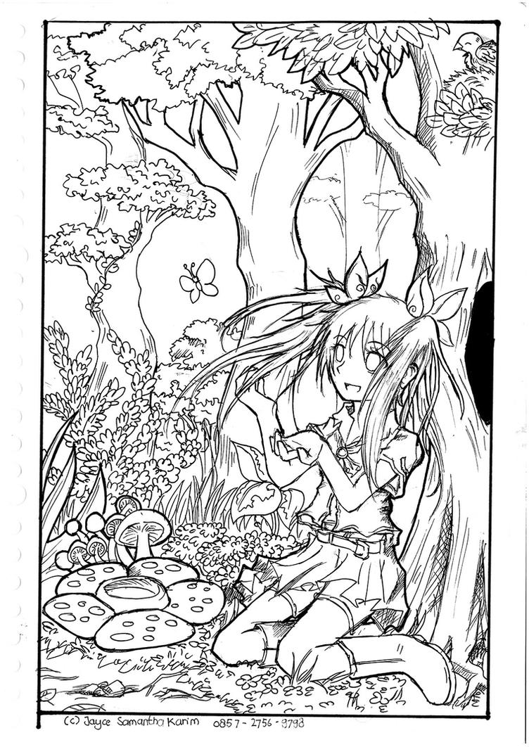 Line Drawing Nature : Lineart the beau of nature by miririri on deviantart