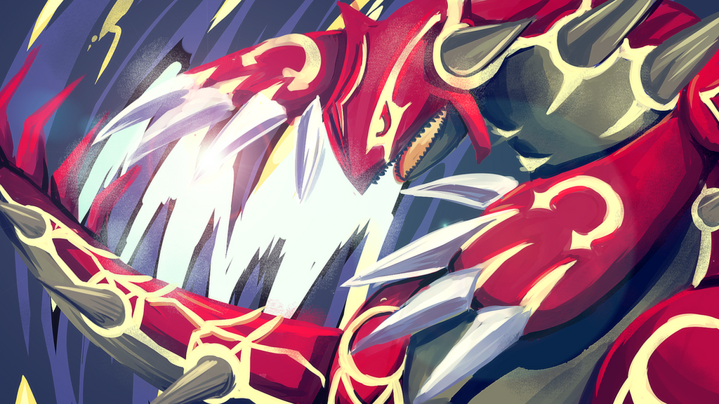 Omega Groudon speedpaint! by miririri