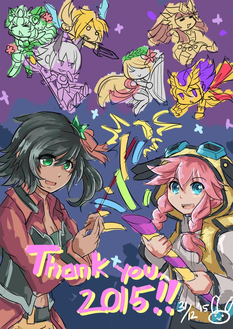 Thank you 2015~! by miririri
