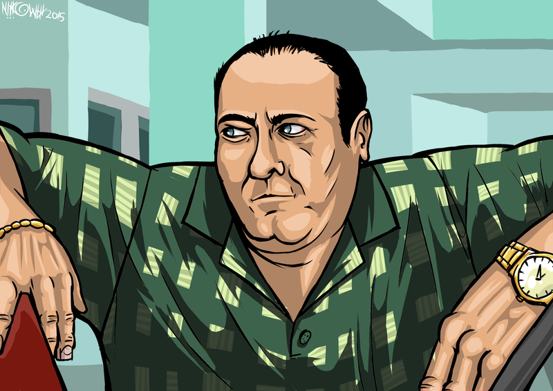 tony soprano fan art by nikowhy on deviantart