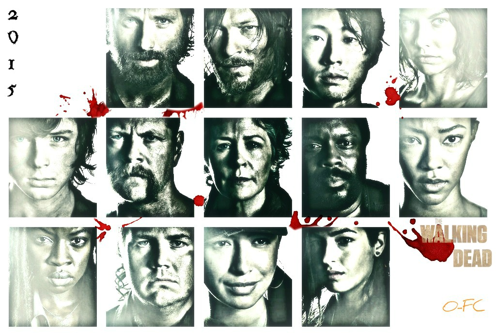 The Walking Dead Cast Collage by Orange-FeatherCanary