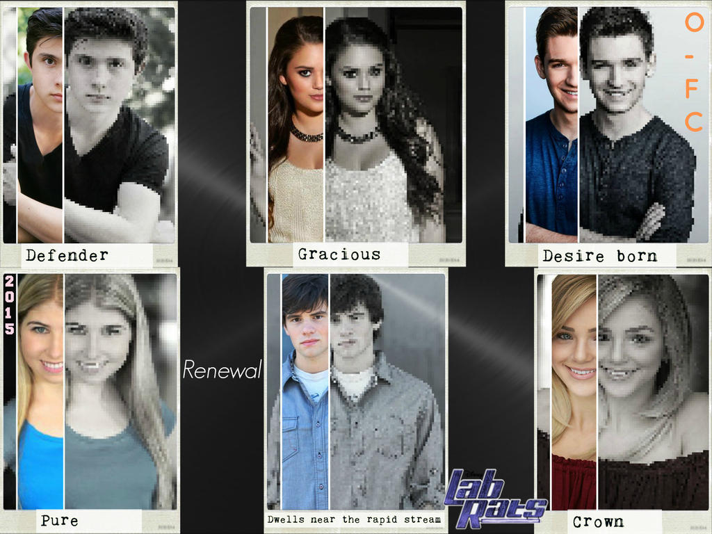 Lab Rats Characters' Name Meanings Renewal Version by Orange-FeatherCanary