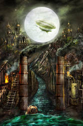 The Moon (Wasteland by brass-and-steam