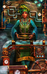 Queen of the Sahara (Pentacles) by brass-and-steam