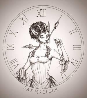 Inktober2018 #14 Clock