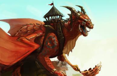 Battle Dragon by Noxiihunter