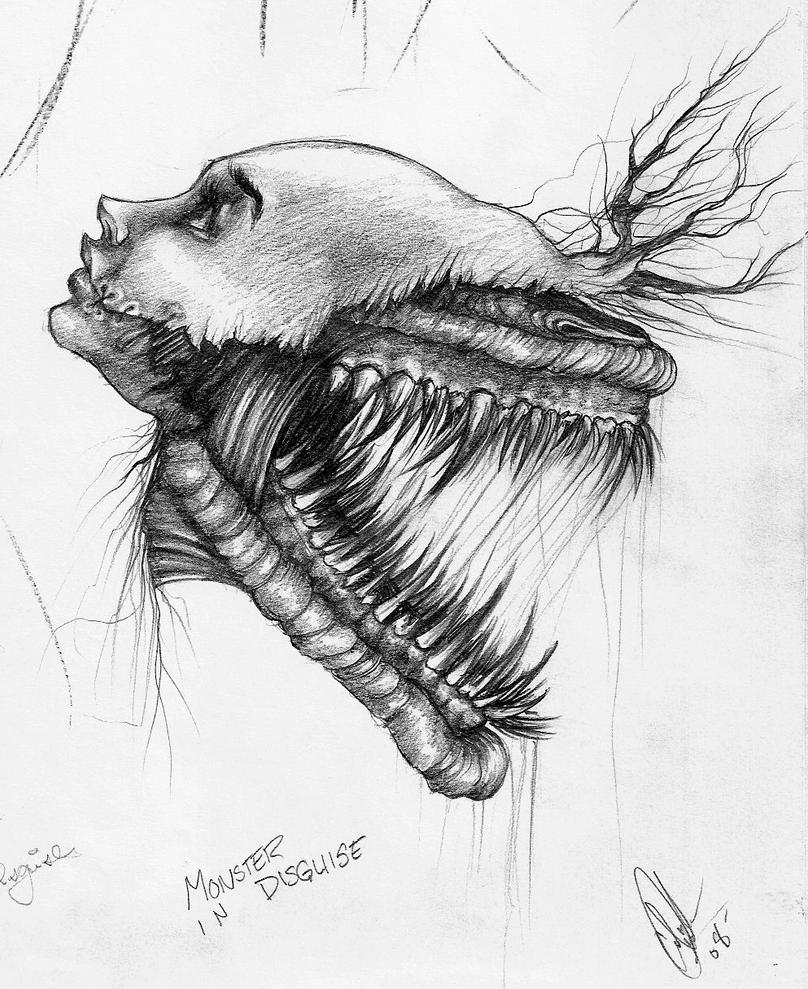 Monster in Disguise Sketch by Carliihde on DeviantArt