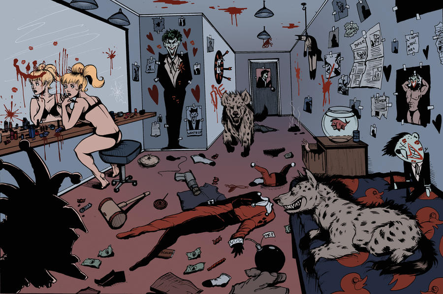 Harley quinn background by carliihde on deviantart for Harley quinn bedroom designs