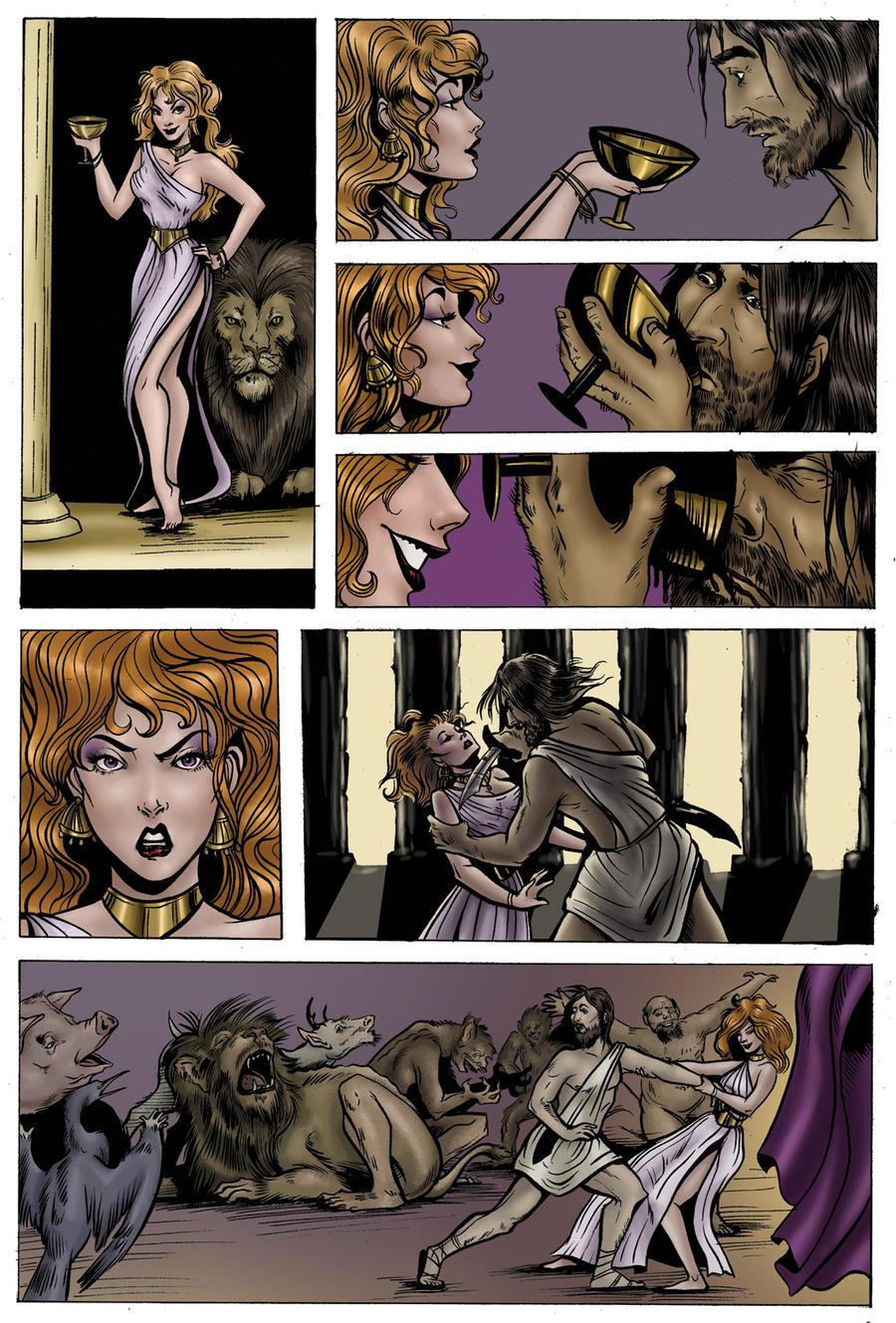 relationship between circe and odysseus comic