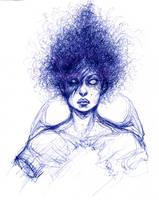 Self Portrait Pen Sketch by Carliihde