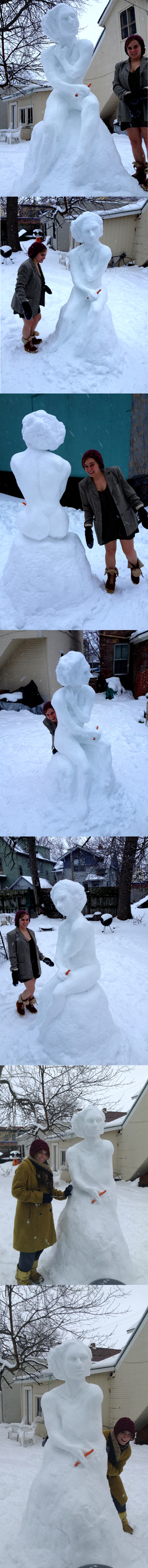 Snow Woman Sculpture