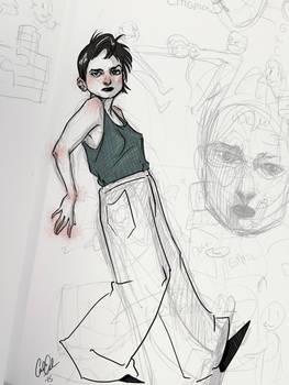 A Sketch of a Girl