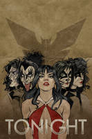 KISS/Vampirella #2 Variant Cover by Carliihde