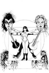KISS/Vampirella #4 Variant Cover Lines by Carliihde