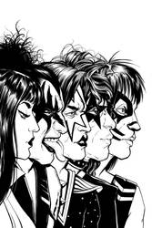 KISS/Vampirella #5 Variant Cover Lines by Carliihde