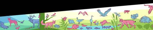 Midwest Wildlife Unused Mural Design by Carliihde