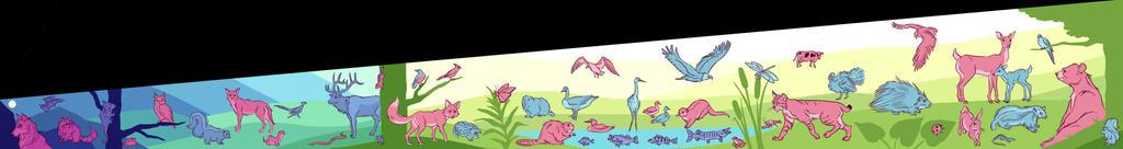 Midwest Wildlife Unused Mural Design