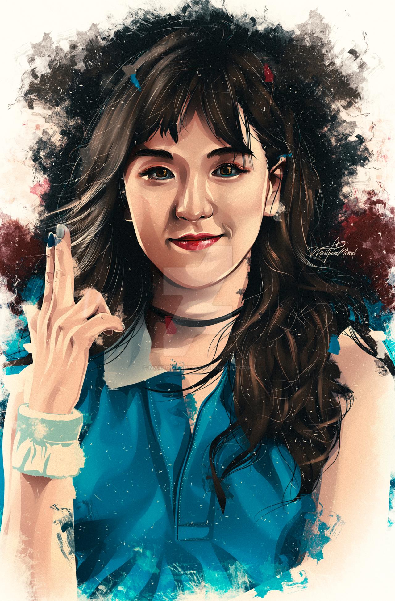 Wendy Red Velvet Fan Art by MarloweART22 on DeviantArt