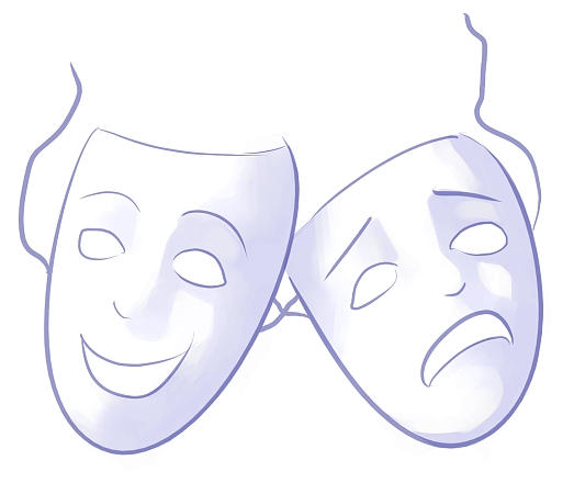 Simple Theatre Masks Simple drama masks by
