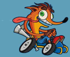 The orange marsupial that likes driving
