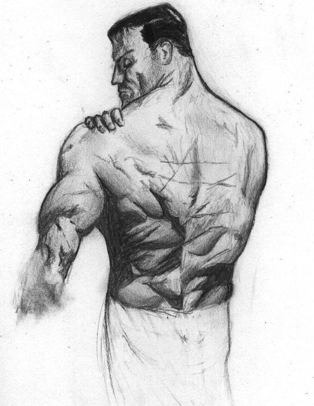Sketch Of Alex Ross Batman By MrPhres On DeviantART