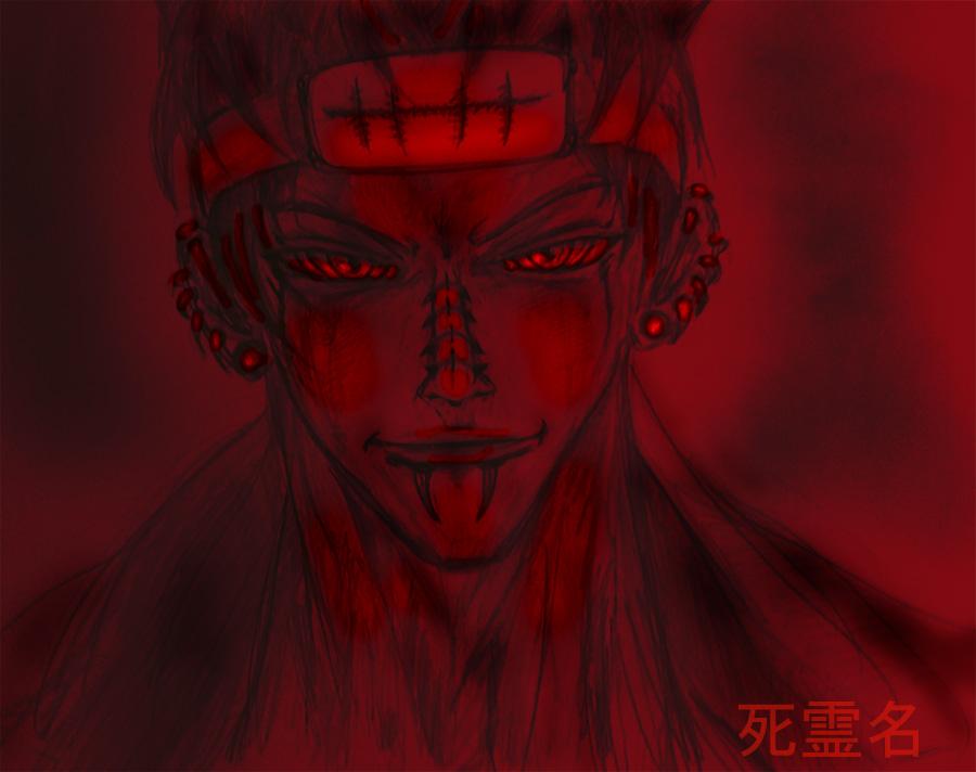Pain-naruto-sketch1 by SirCrocodile