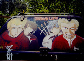 Trigun on Car by SirCrocodile