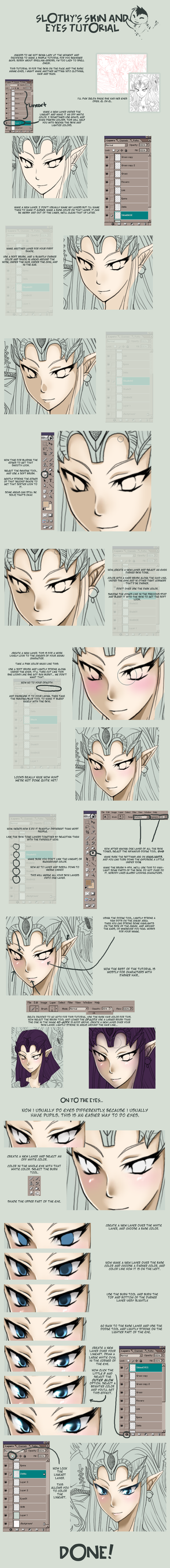Tutorial: Skin and Eyes by SlothGirl