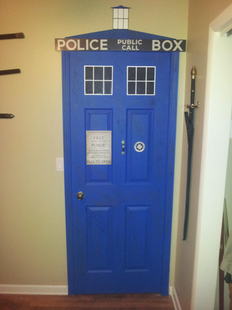 My Hand Painted TARDIS Door by SanHolo80 ... & My Hand Painted TARDIS Door by SanHolo80 on DeviantArt