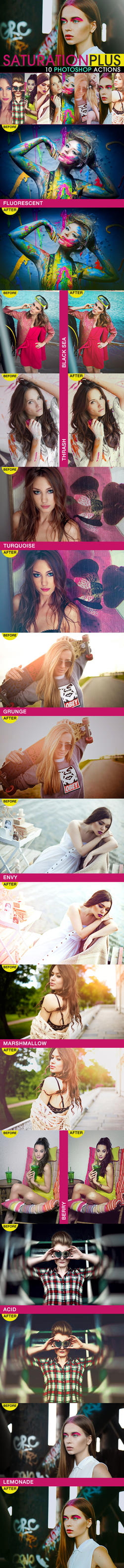 SaturationPLUS Photoshop Actions by LuciferB